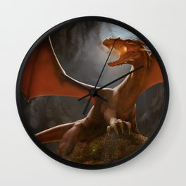 Beware of the Dragon Wall Clock