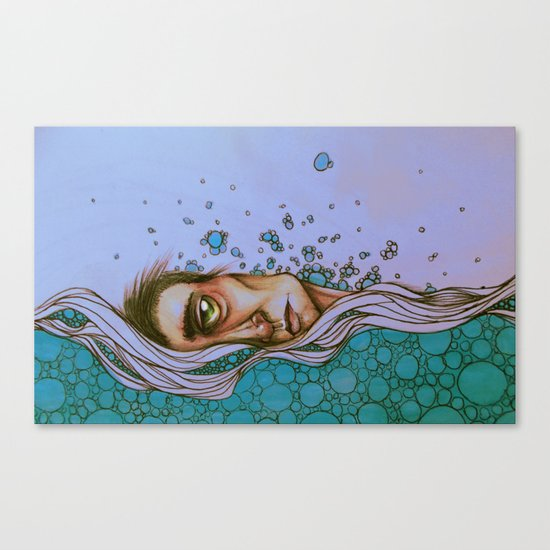 Floating On By Canvas Print