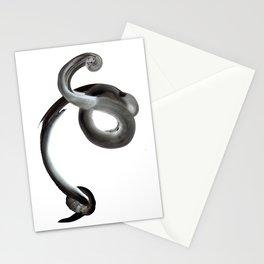 Breath Portrait Black Stationery Cards