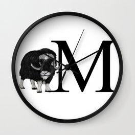 muskox Wall Clock