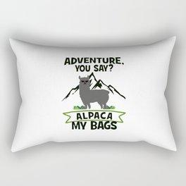 Alpaca My Bags  Travelling Rectangular Pillow