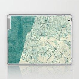 Tel Aviv Map Blue Vintage Laptop & iPad Skin