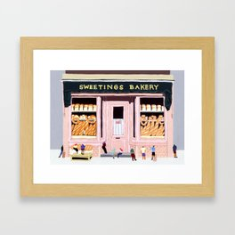 Sweetings Bakery Framed Art Print
