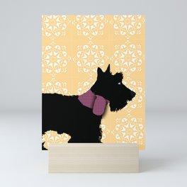 Scottie terrier in black Mini Art Print