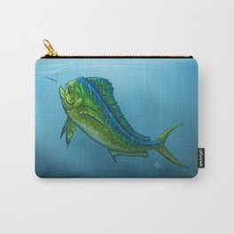 """""""El Dorado"""" by Amber Marine ~ Mahi Mahi / Dolphin Fish Art, (Copyright 2015) Carry-All Pouch"""