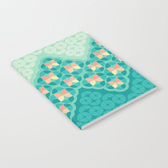 Blue Garden Pattern Notebook