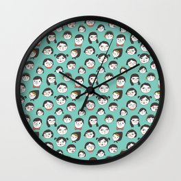 Pattern Project / Faces Wall Clock