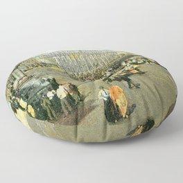 Victorian Douglas Isle of Man Loch Promenade Floor Pillow