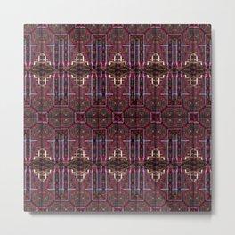 288 brown maroon pink Metal Print