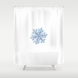Real snowflake - Hyperion white Shower Curtain