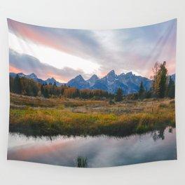 Grand Teton Sunset Wall Tapestry