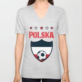 Poland 2018 World Football 2018 - Poland Flag Unisex V-Neck