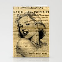 newspaper Stationery Cards featuring Marilyn newspaper by Teo Designs