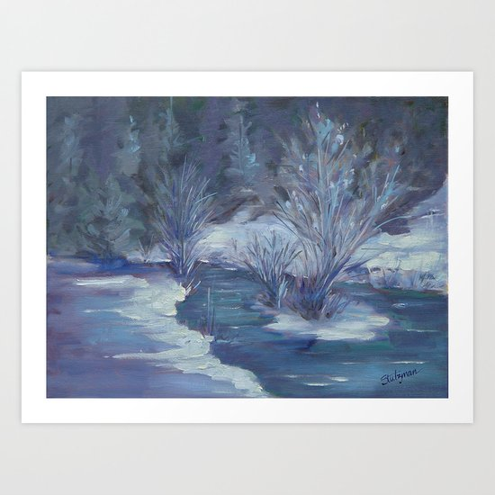 Bear Creek Winter Art Print