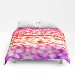 Sunset Glitter Sparkles Comforters