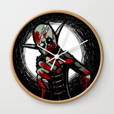 Debate Over: Zombies vs. Vampires Wall Clock