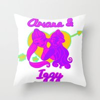 iggy azalea Throw Pillows featuring Ariana Grande Ft. Iggy Azalea #2 by Glopesfirestar