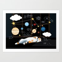 Thinking Dreams Art Print