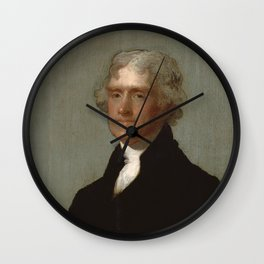 Thomas Jefferson Painting Wall Clock
