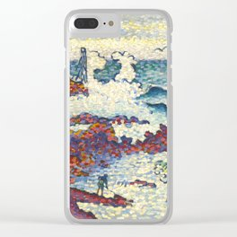 "Henri-Edmond Cross ""Méditerranée par vent d'est"" Clear iPhone Case"