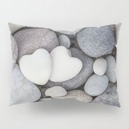 Heart Pebble Stone Mineral Love Symbol Pillow Sham