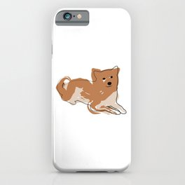 Line dog with paint spots iPhone Case