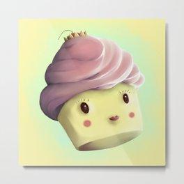 Princess Cupcake Metal Print