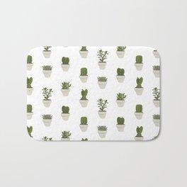 Cacti & Succulents - White Bath Mat