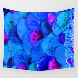 Blue Fish Wall Tapestry