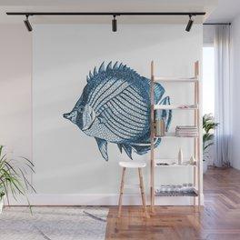 Fish coastal ocean blue watercolor Wall Mural
