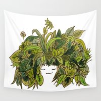 plants Wall Tapestries featuring plants!! by ella