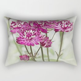Pink Flowers in the Mist Rectangular Pillow