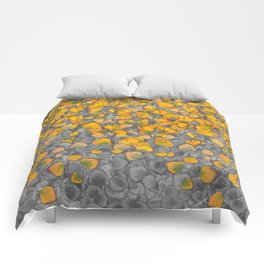 Real Aspen Leaves Collage Comforters