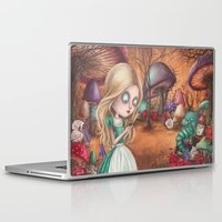 returns Laptop & iPad Skins featuring Alice returns by Caroletta