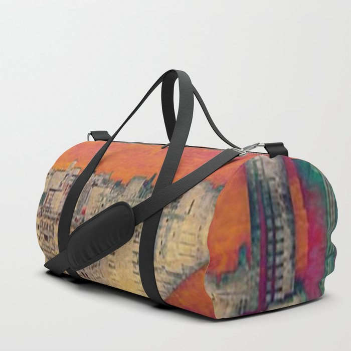 Cartoon City Triptych Right Duffle Bag