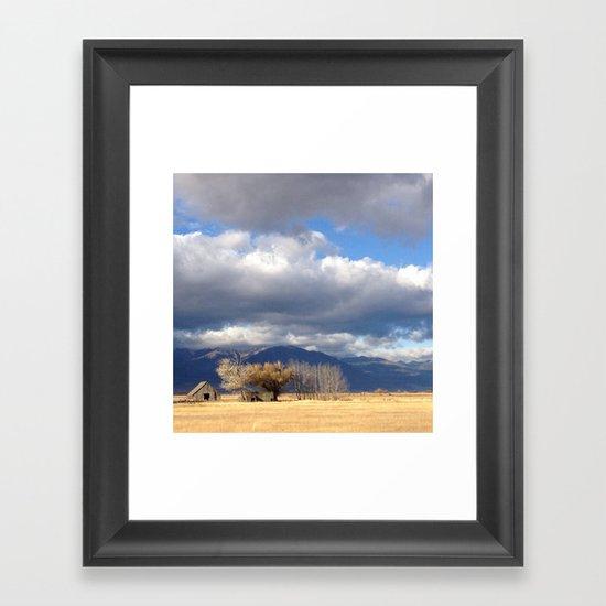 Baker City Barn Framed Art Print