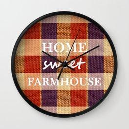 Burlap & Home Sweet FarmHouse Wall Clock