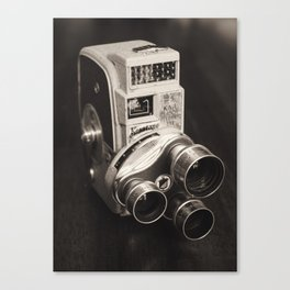 vintage video camera Canvas Print
