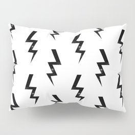 Bolts lightning bolt pattern black and white minimal cute patterned gifts Pillow Sham