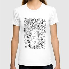 Japanese kimono art  T-shirt