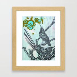 My little starlings Framed Art Print