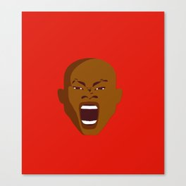 brown man screaming face art red Canvas Print