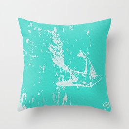 Fly Free (Turquoise) Throw Pillow