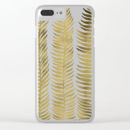 Golden Seaweed Clear iPhone Case