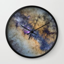 The Milky Way and constellations Scorpius, Sagittarius and the super big red star Antares. Wall Clock