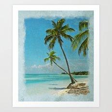 Tropical Blue Heaven Art Print