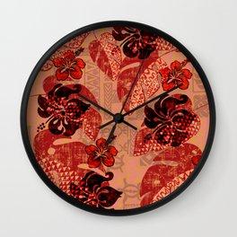 On Fire Kona Tribal Design Wall Clock