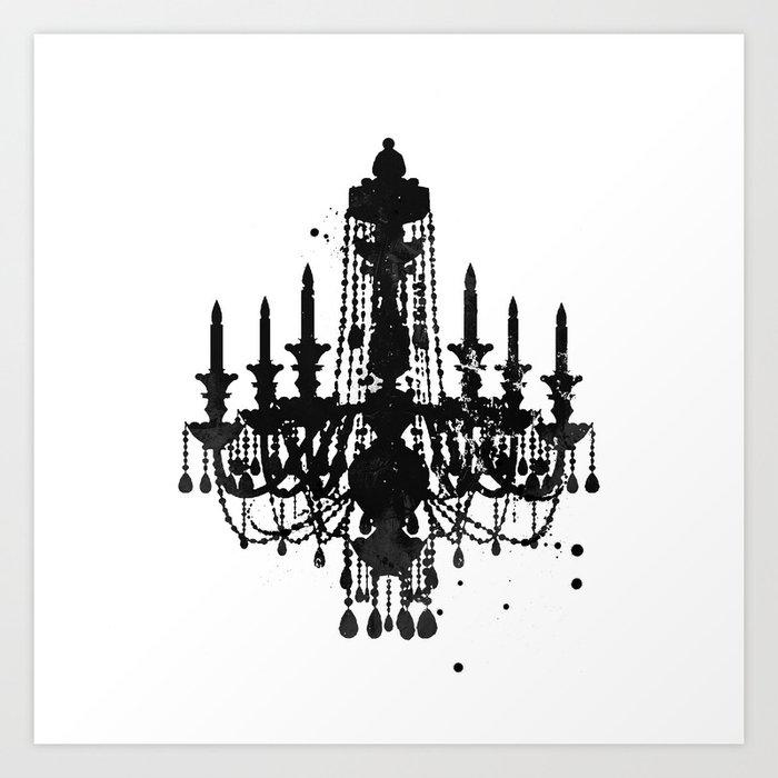 Chandelier art print by womackart society6 chandelier art print aloadofball Gallery