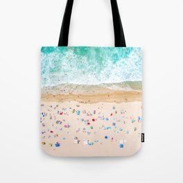 Drone shot of Manhattan beach Tote Bag