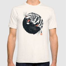 Taichi Tiger Mens Fitted Tee LARGE Natural
